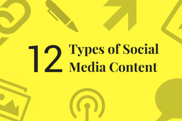 12 types of social media content